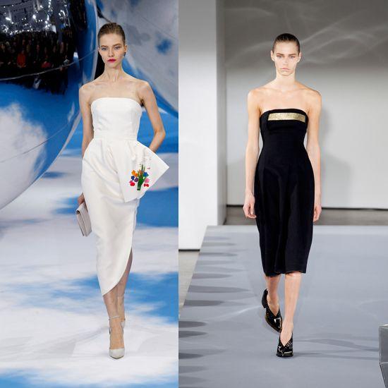 Το στράπλες φόρεμα: Από την στιγμή που μονοπωλεί τις συλλογές των πιο σημαντικών οίκων όπως είναι οι Christian Dior, Jil Sander και Lanvin, ανακηρύσσεται σε must have της σεζόν.