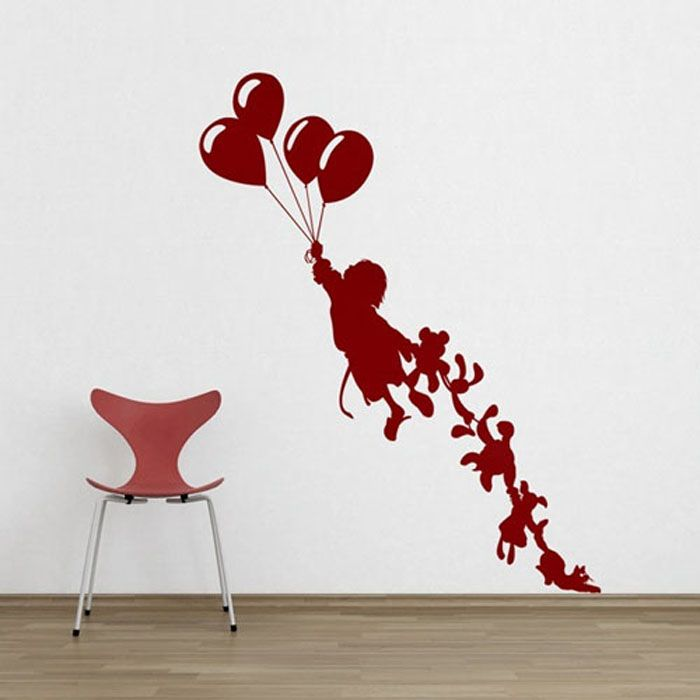 Colorful Wall Sticker at Playing Room