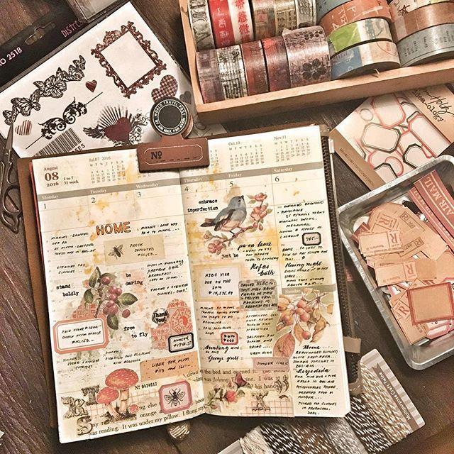 Week 31 #midoritravelersnotebook #travelersnotebook #travelersnote #notebook…