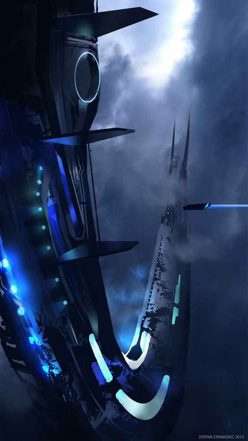 Futuristic Space, Sci-Fi, Space station by Stelle #scifi #space #art