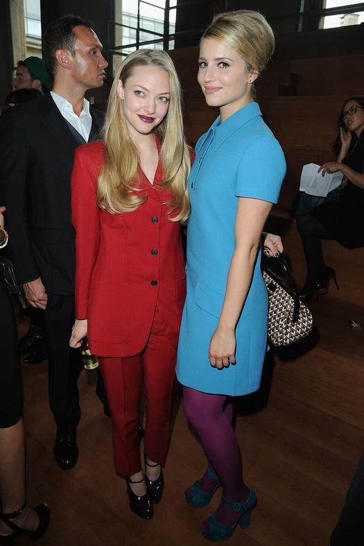 Неделя моды в Париже: звездные гости: Аманда Сейфрид и Дианна Агрон