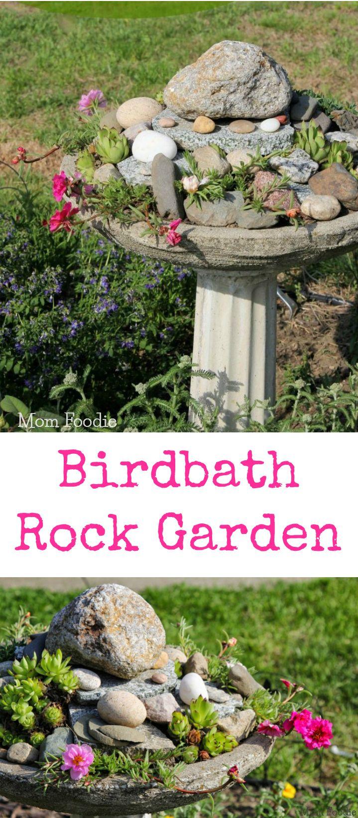 Birdbath Rock Garden Feature