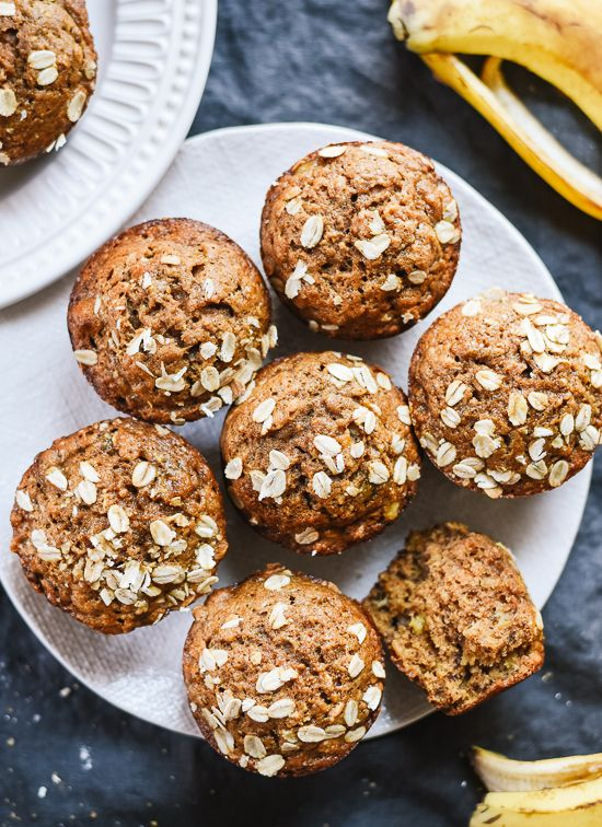 15 Amazing Breakfast Recipes to Try This Week | Maple-Sweetened Banana Muffins @stylecaster