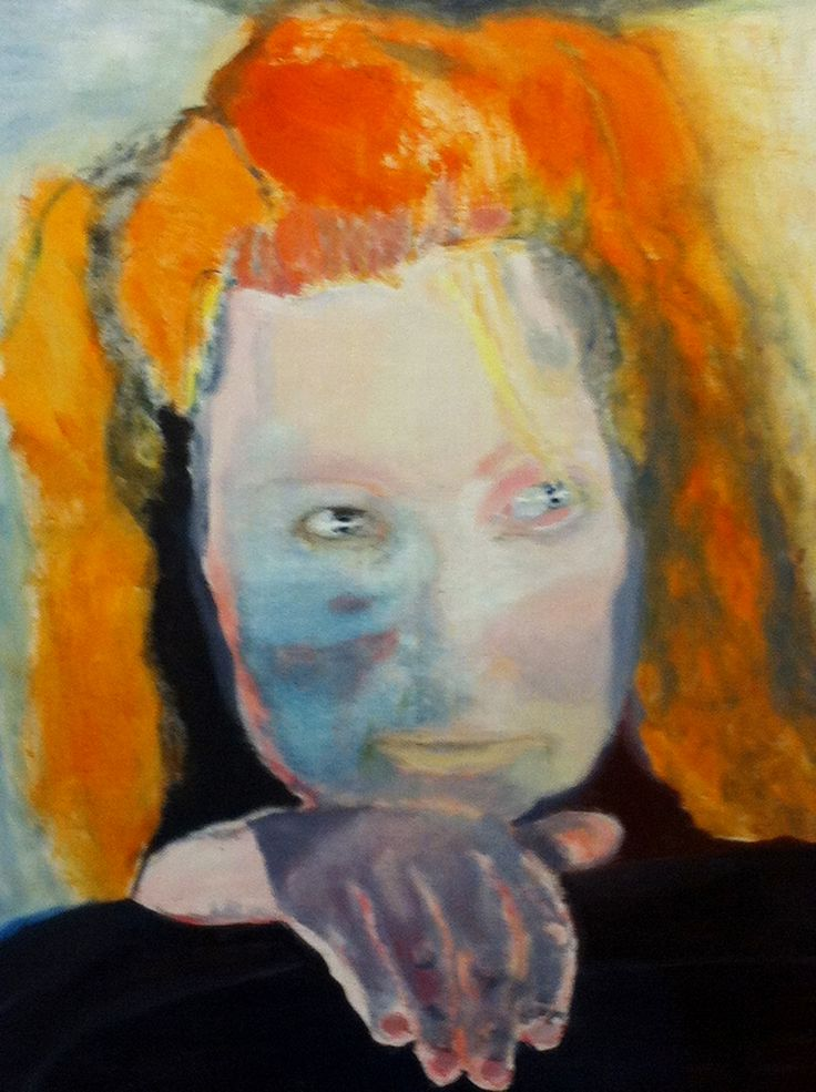 Marlene Dumas (born 3 August 1953) is a South African born artist and painter who lives and works in Amsterdam. Self portrait.