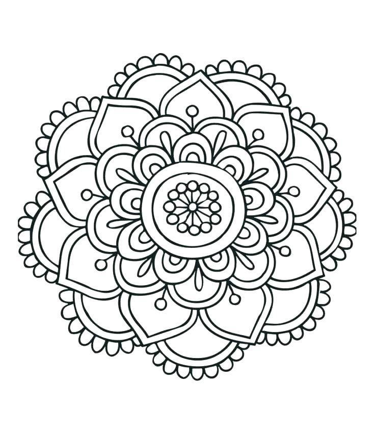996a7f87b809a96ea18f515f99507e22 » Mandala Flower Coloring Page