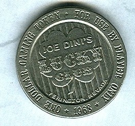 Lucky Club Casino Joe Dini's Yerrington $1 Token