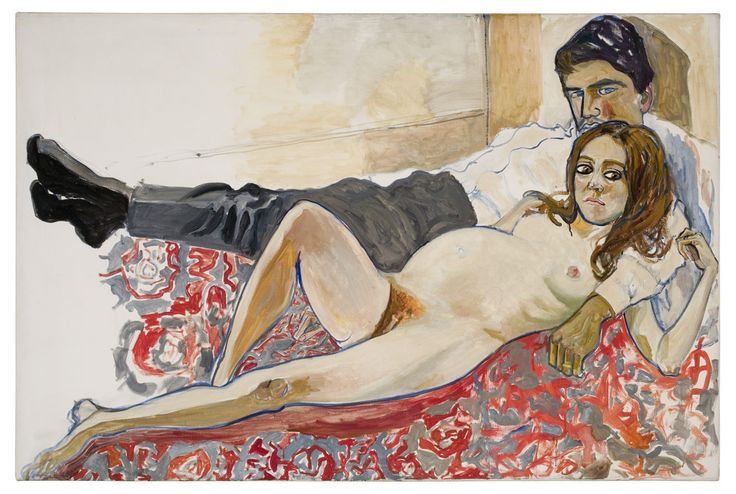 Alice Neel: Lasta odottava Julie ja Algis, 1967. Estate of Alice Neel. Kuva: Malcolm Varon, New York © Estate of Alice Neel