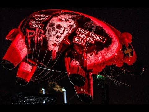 """Roger Waters protests Trump with """"Pigs (Three Different Ones)"""" multi-cam - Desert Trip 2016 - YouTube"""