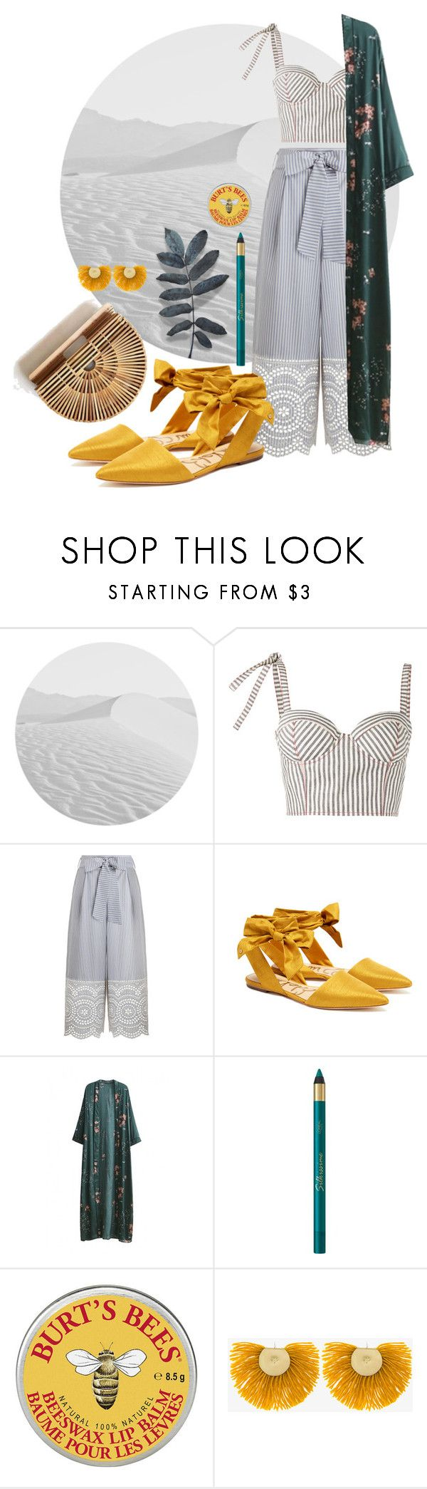 """summer nights"" by nover on Polyvore featuring Rosie Assoulin, Zimmermann, Sam Edelman, WithChic, L'Oréal Paris and Katerina Makriyianni"
