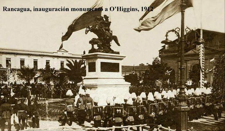 monumento a ohiggins 1912.jpg (960×562). El monumento se encuentra en la Plaza de Rancagua, escenario de la cruenta Batalla ocurrida en 1814.