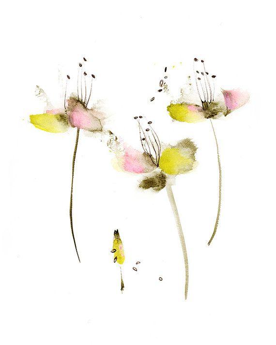 1000 id es propos de rose a l 39 aquarelle sur pinterest for Aquarelle fleurs