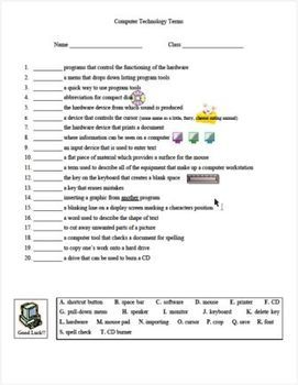 Computer Technology Lessons with Worksheets for 4th & 5th Graders