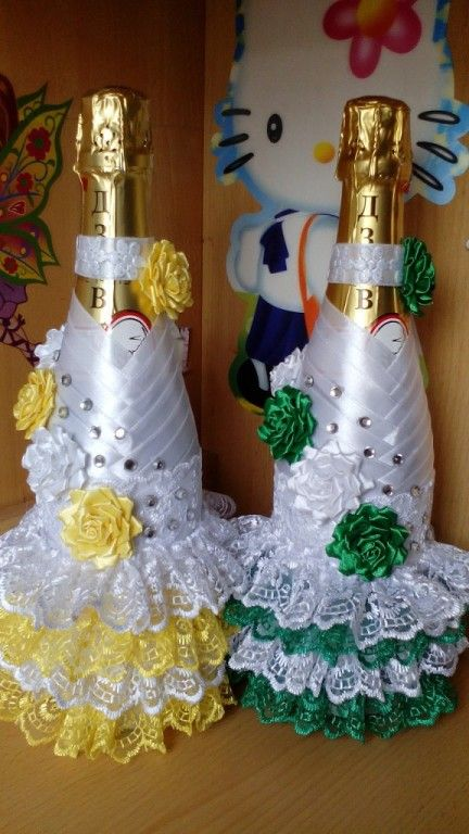 How To Decorate Bottles With Ribbon Decoration For Home
