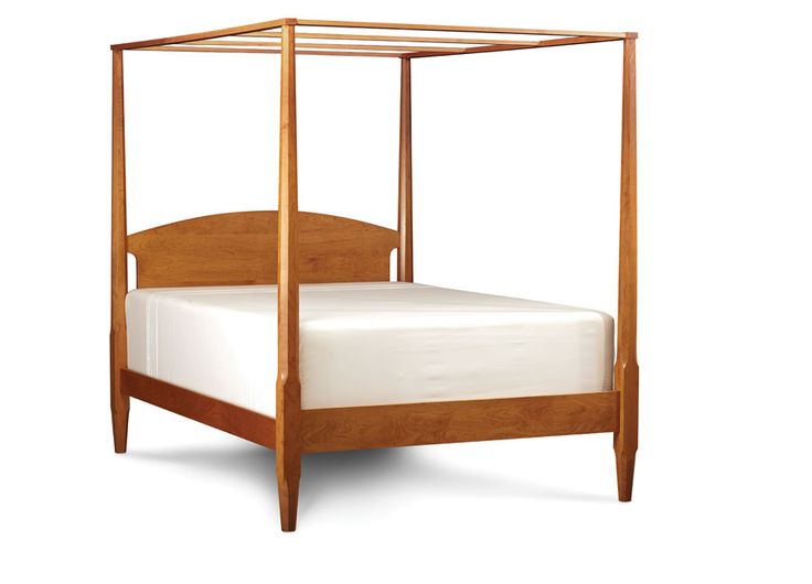Shaker pencil post bed plans woodworking projects plans for Shaker bed plans