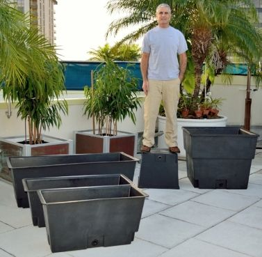 Garden Planter Liners, Plastic Liners, Recycled Planter Liners