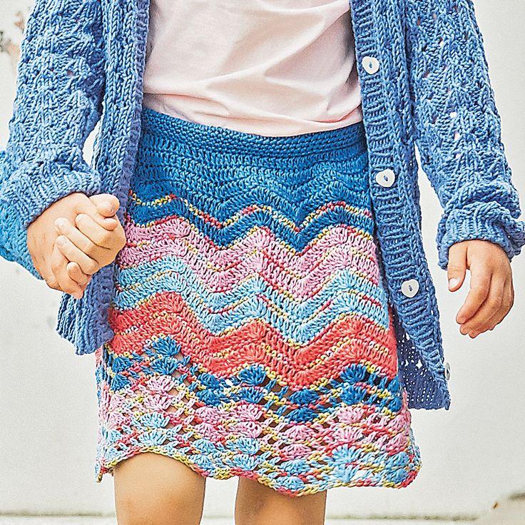 Пестрая юбка с зигзагообразным узором