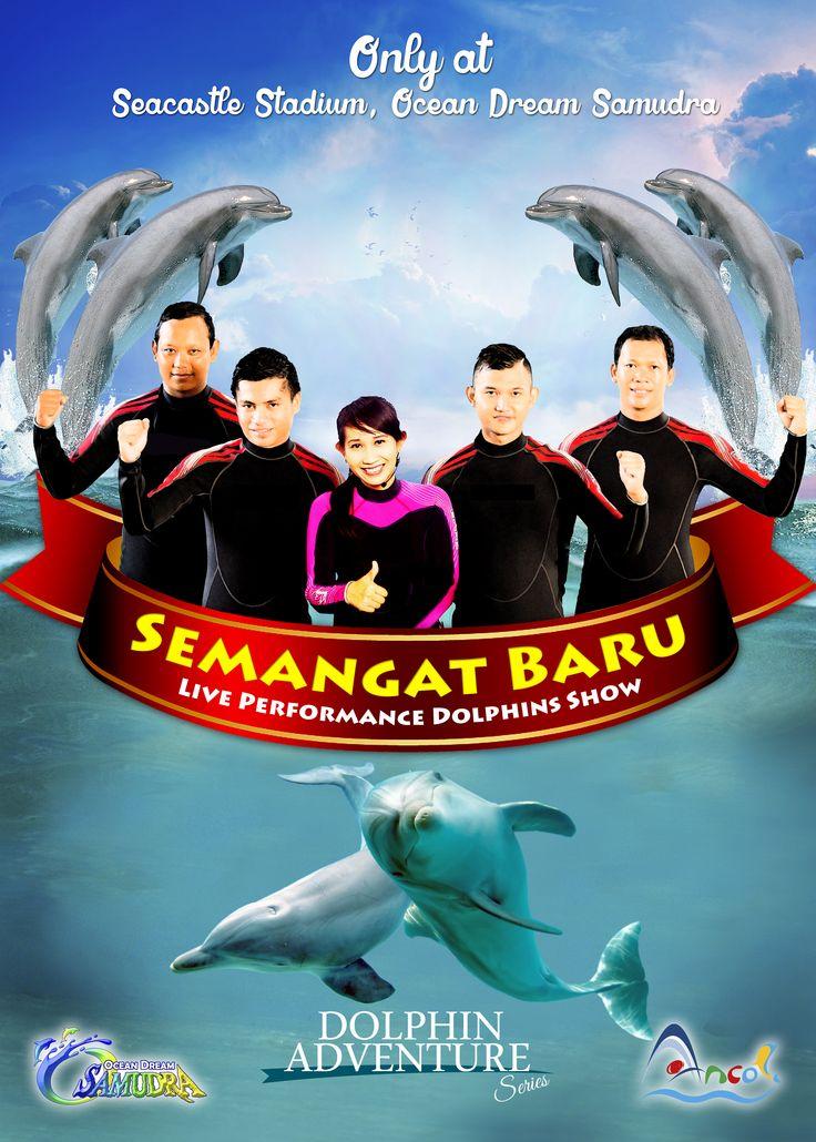 "Ocean Dream Samudra mempersembahkan pertunjukan lumba-lumba terbaru dan terbaik di Indonesia. Menampilkan ""live performance"" lumba-lumba yang enerjik melakukan gerakan-gerakan alamiah mereka seperti yang mereka lakukan di alam. Melompat, berputar dan berinteraksi menjadikan Show penuh dengan kejutan. Kenali dan cintai mereka, rasakan semangatnya di Sea castle Stadium - Ocean Dream Samudra"