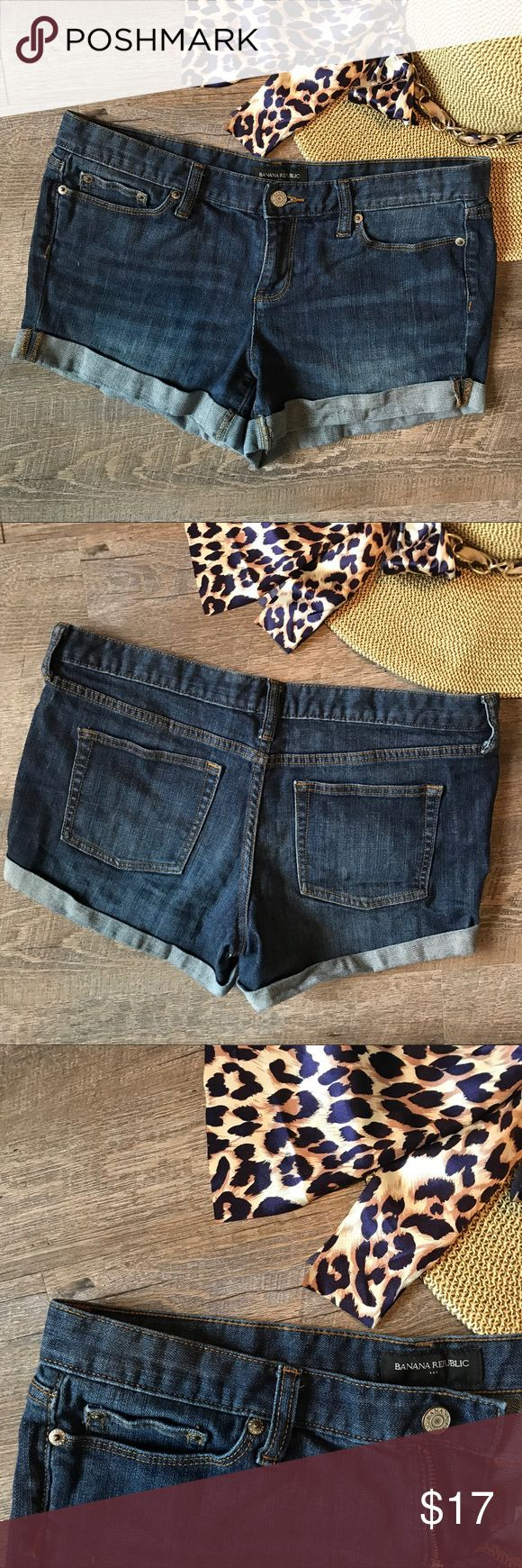 Banana Republic Jean Shorts size 8 Super cute Banana Republic jean shorts! 99% cotton, 1% spandex. Size 8. In good condition. See images for measurements. Banana Republic Shorts Jean Shorts