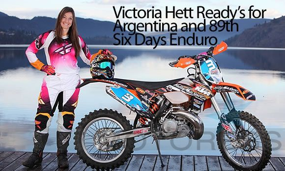 Canadian Women's Motorcycle Enduro Expert Victoria Hett Ready's for Argentina ISDE