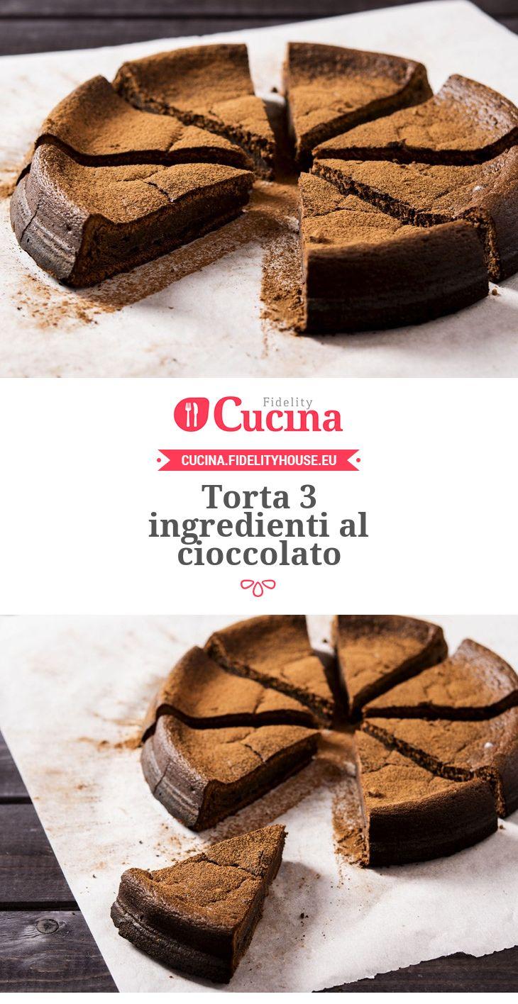 Torta 3 ingredienti al cioccolato
