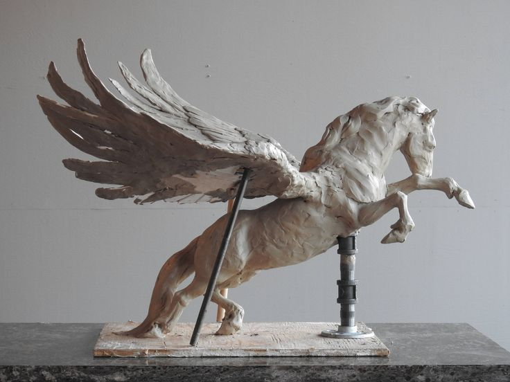 Freedom, Pre-casting special price for an original, hand cast, bronze sculpture of Pegasus the winged horse by Canadian Artist Kindrie Grove by KindrieGroveStudios on Etsy