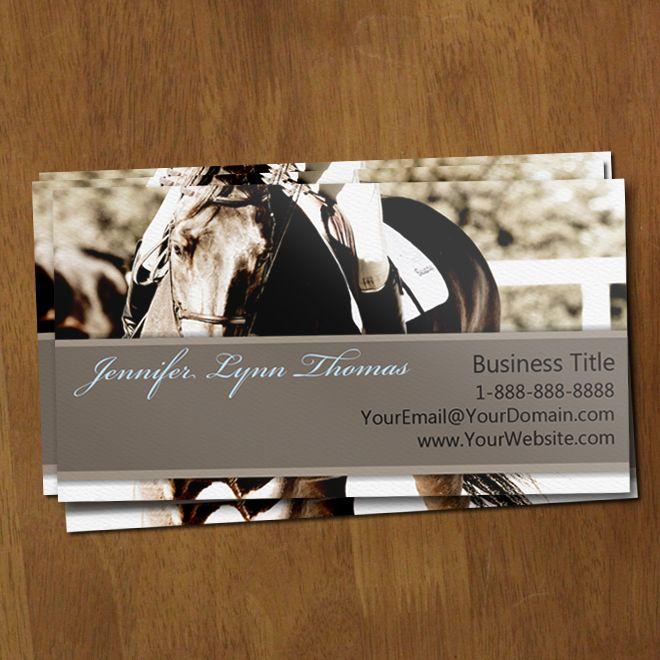 26 best unique business cards images on pinterest unique business equestrian show horse profile cards 100 pk colourmoves