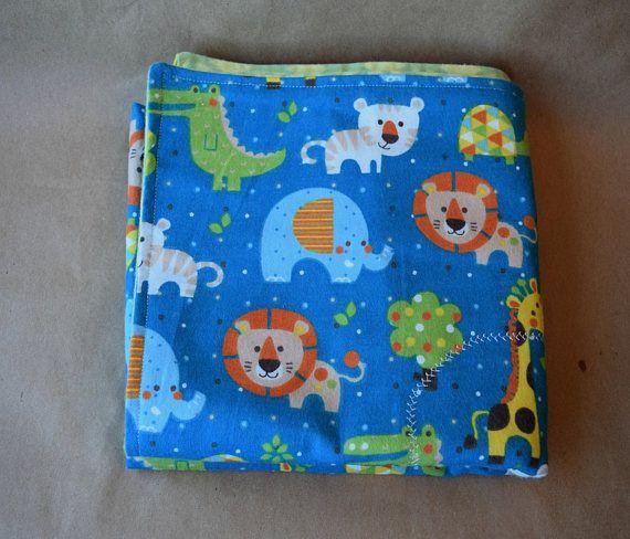 Baby blanket Flannel baby blanket Receiving blanket Safari