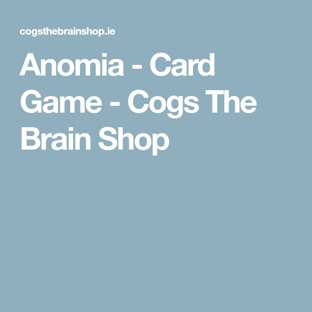 Anomia - Card Game - Cogs The Brain Shop