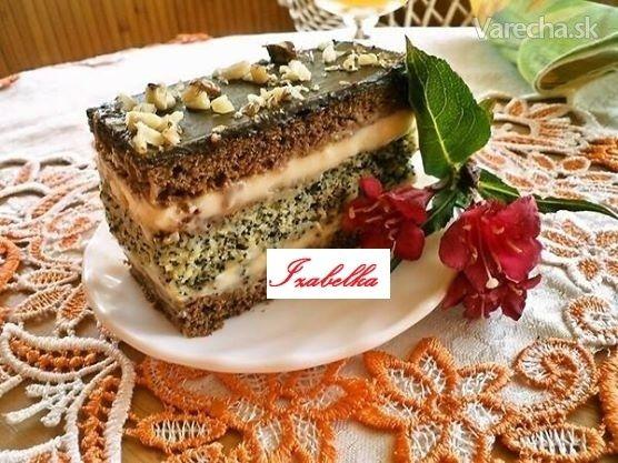 Kakaovo-makové rezy (fotorecept) - Recept