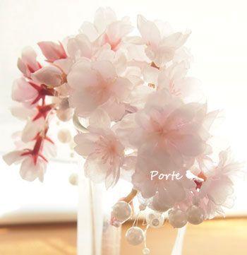 桜のリストブーケ【造花】/ ぽると
