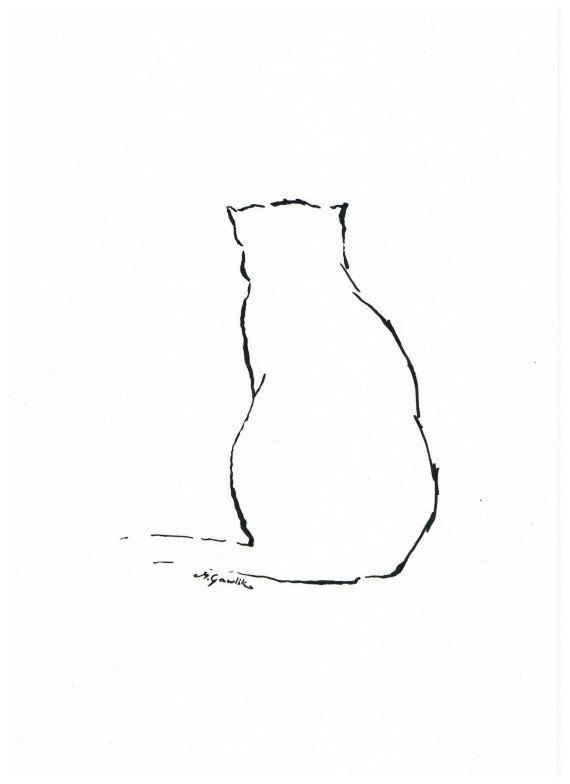 """""""The most poor cat is a masterpiece""""...    (Leonardo da Vinci Quote) ^^^^  Interesting simple, minimalistic ink drawing with a soul for cat lovers. Project for kids and not only..."""