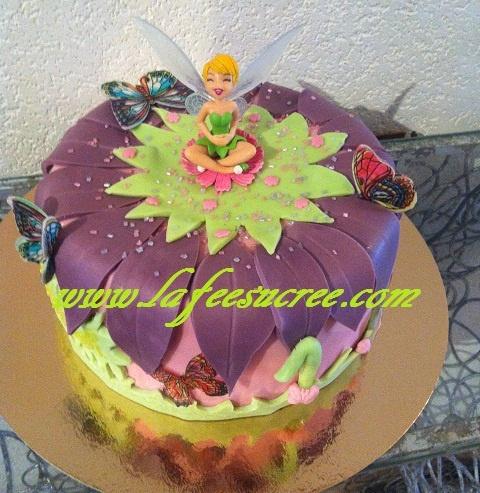 Cake Tinkerbell  Gâteau fée clochette