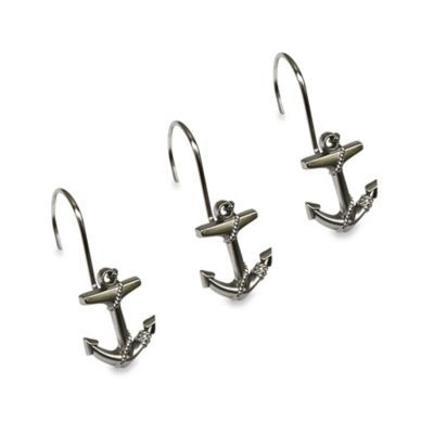 Buy Anchor Shower Curtain Hooks (Set of 12) from Bed Bath & Beyond