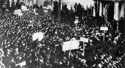 The collapse of Germany after the war, made a huge problems with the citizens (people were HUNGRY and Germany had nothing except for destructions) which led to the start of revolutions