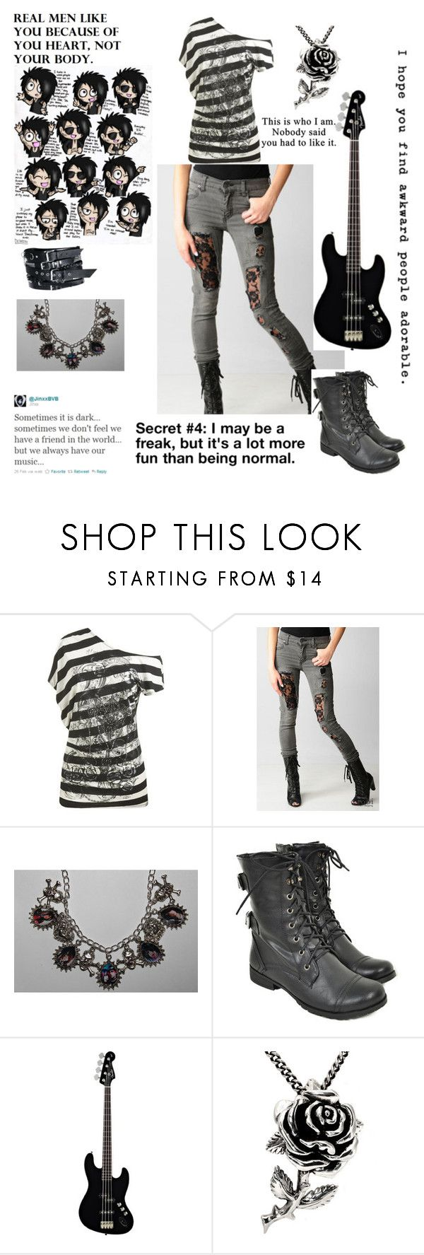 """""""Untitled #278"""" by rukiakuchiki12341 ❤ liked on Polyvore featuring Wet Seal, Cheap Monday, H&M and Ed Hardy"""
