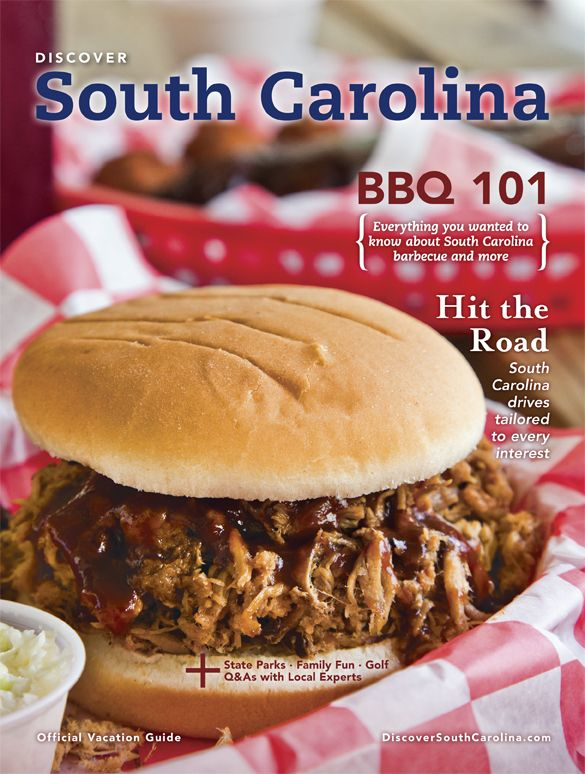 It's time to plan your South Carolina vacation! Request a copy of our FREE South Carolina vacation guide or browse it online. #scbbq