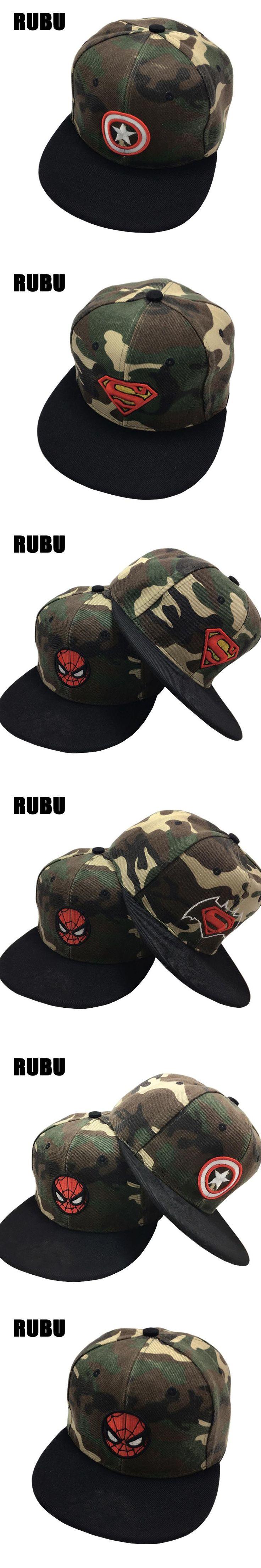 Kids Baseball Caps Fashion Superman Batman Children Snapback Caps Gorras Planas Boys Hip Hop Hat Camo cap kids sun hats for boys
