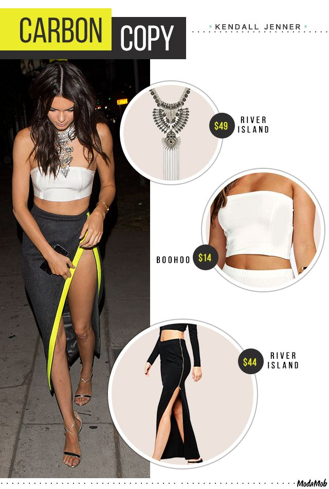 Kendall Jenner's look for less