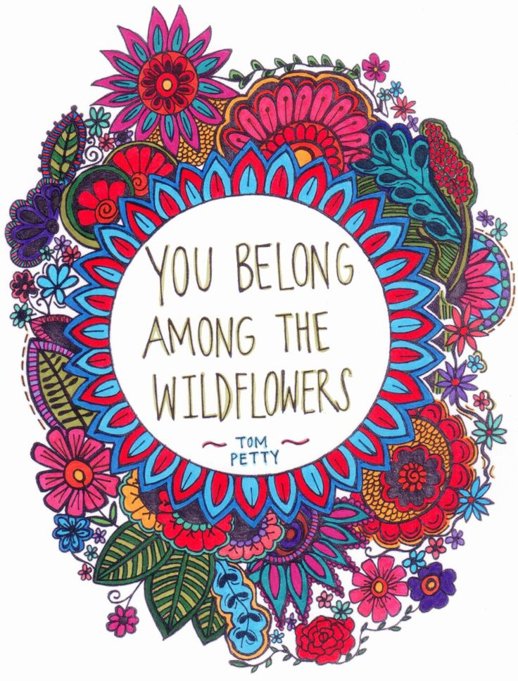 You Belong Among The Wildflowers - Tom Petty quote