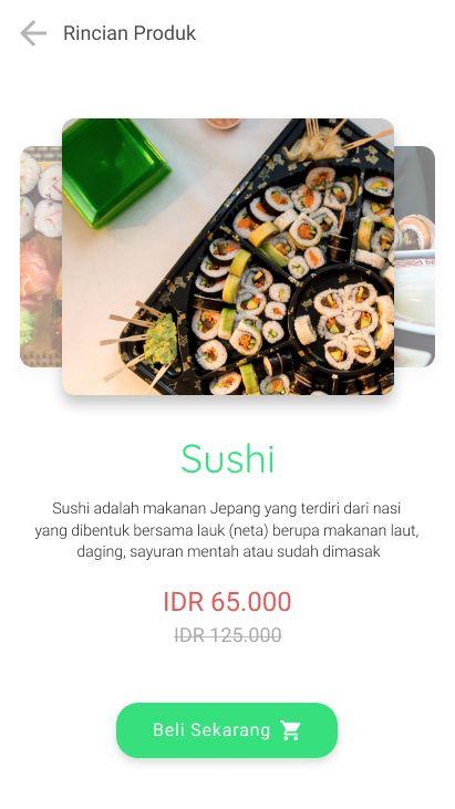 Detail product inspiration for japanese restaurant.  #uxdesign #uidesign #sushi