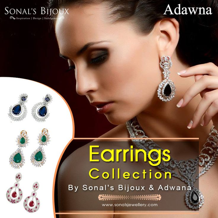 """""""Want to give a memorable gift to your beloved for any social gatherings???? Visit Sonals Bijoux & Adwana online jewellery stores for silver earrings online shopping and get these jewelleries with latest designs."""