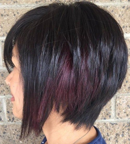 Short Edgy Symmetrical Bob- not the cut as much as the peekaboo highlights