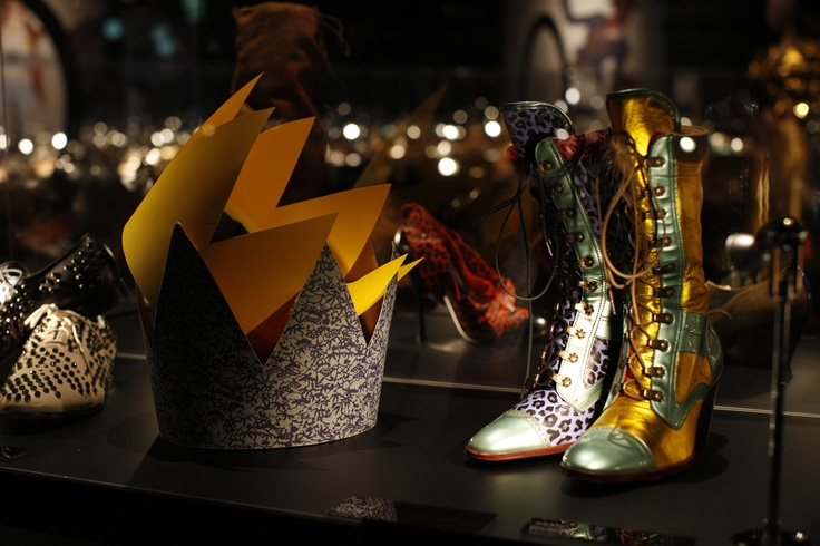 Swarovski Shoe (MAN) + Fairytale Boot (Prince Charming, AW 2010) at the Vivienne Westwood Shoe Exhibition, Tokyo