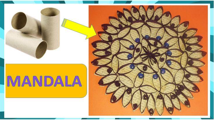 Mandala con rollos de papel higiénico