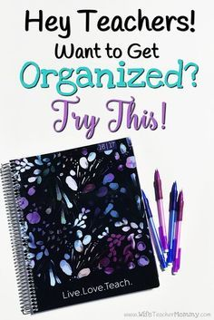 The BEST teacher planner for back to school! Hey Teachers! Want to get organized? Try this! My Plum Paper planner has helped me SO much in getting my life organized, and I know their teacher planner will help YOU get organized, too! This teacher planner i