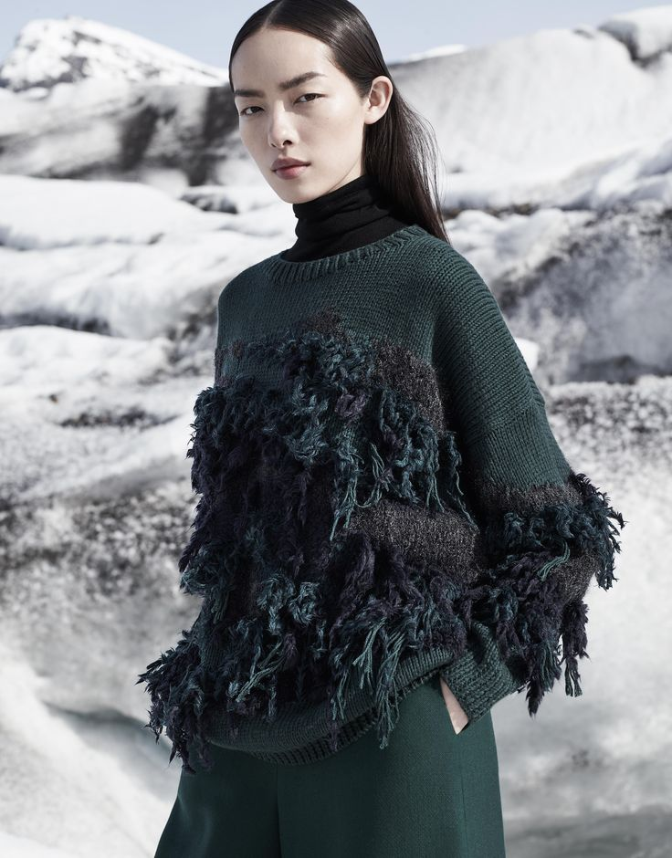 A more organic take on the Winter Jumper... COS | Campaign | Autumn and Winter 2015 #COS #Winter