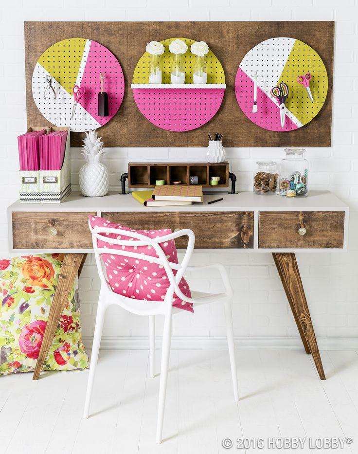 146 best office decor images on pinterest art corner for Corner craft table with storage