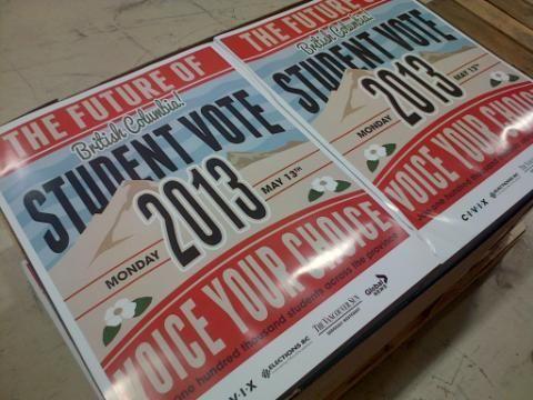 Student Vote BC 2013.