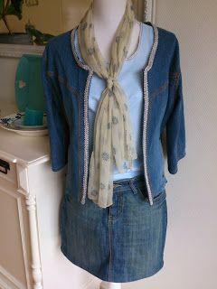 Jeansjasje pimpen, Van een jasje dat je niet meer aan wilt, naar een modernere versie!!