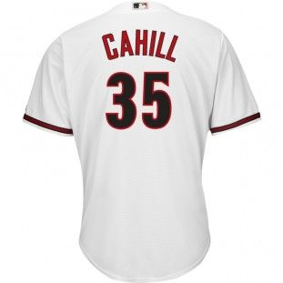 104f047b ... wholesale arizona diamondbacks majestic mlb trevor cahill 2015 cool base  replica player jersey plus size white